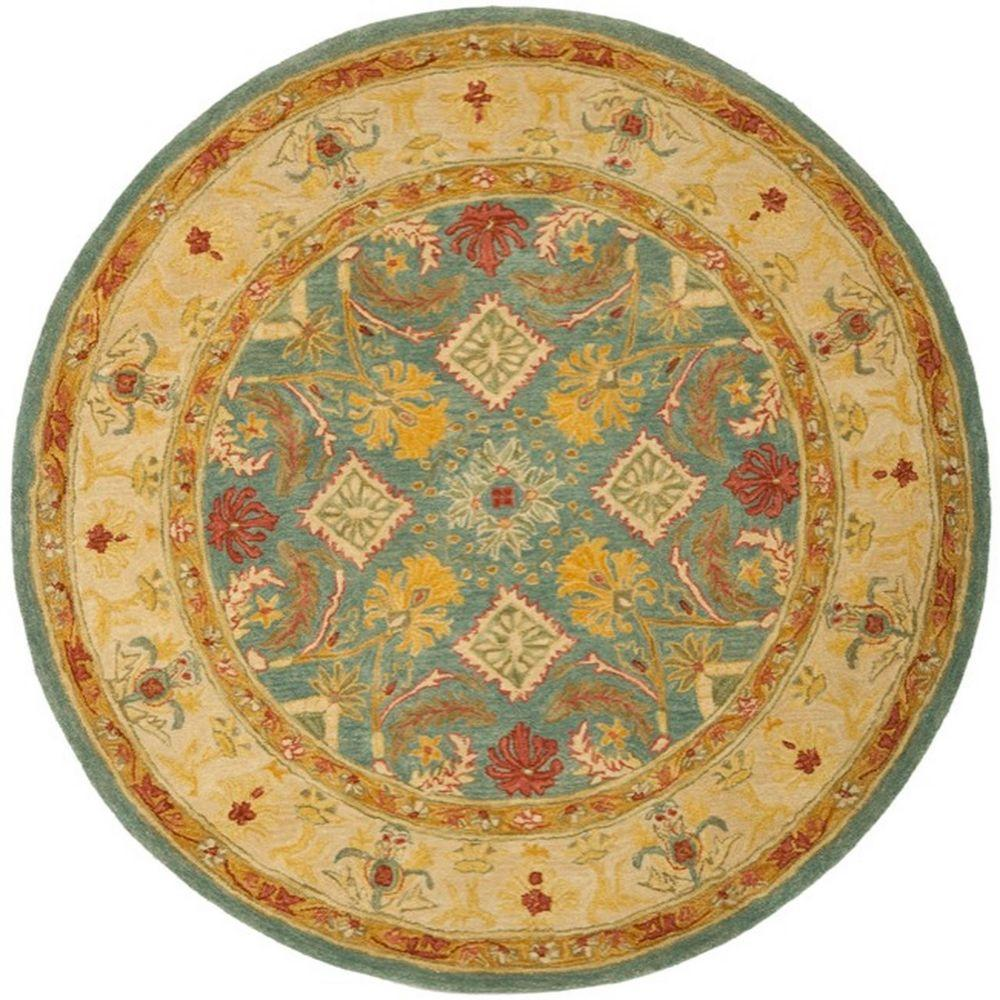 safavieh anatolia light blue ivory 4 ft x 4 ft round area rug an544d 4r the home depot. Black Bedroom Furniture Sets. Home Design Ideas