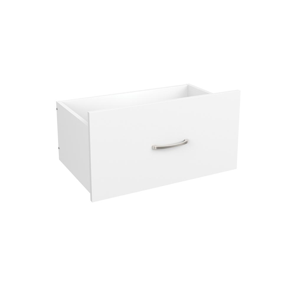 Easentials 1244 In H X 2402 W White Melamine Casual