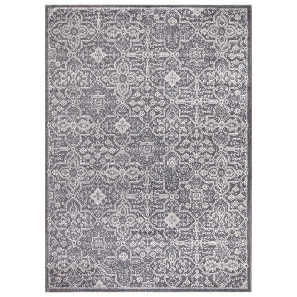Concord Global Trading Concord Global Trading Jefferson Collection Athens Gray 5 ft. x 7 ft. Area Rug