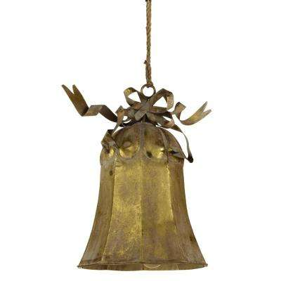 21.25 in. Oversized Gold Bell Ornament