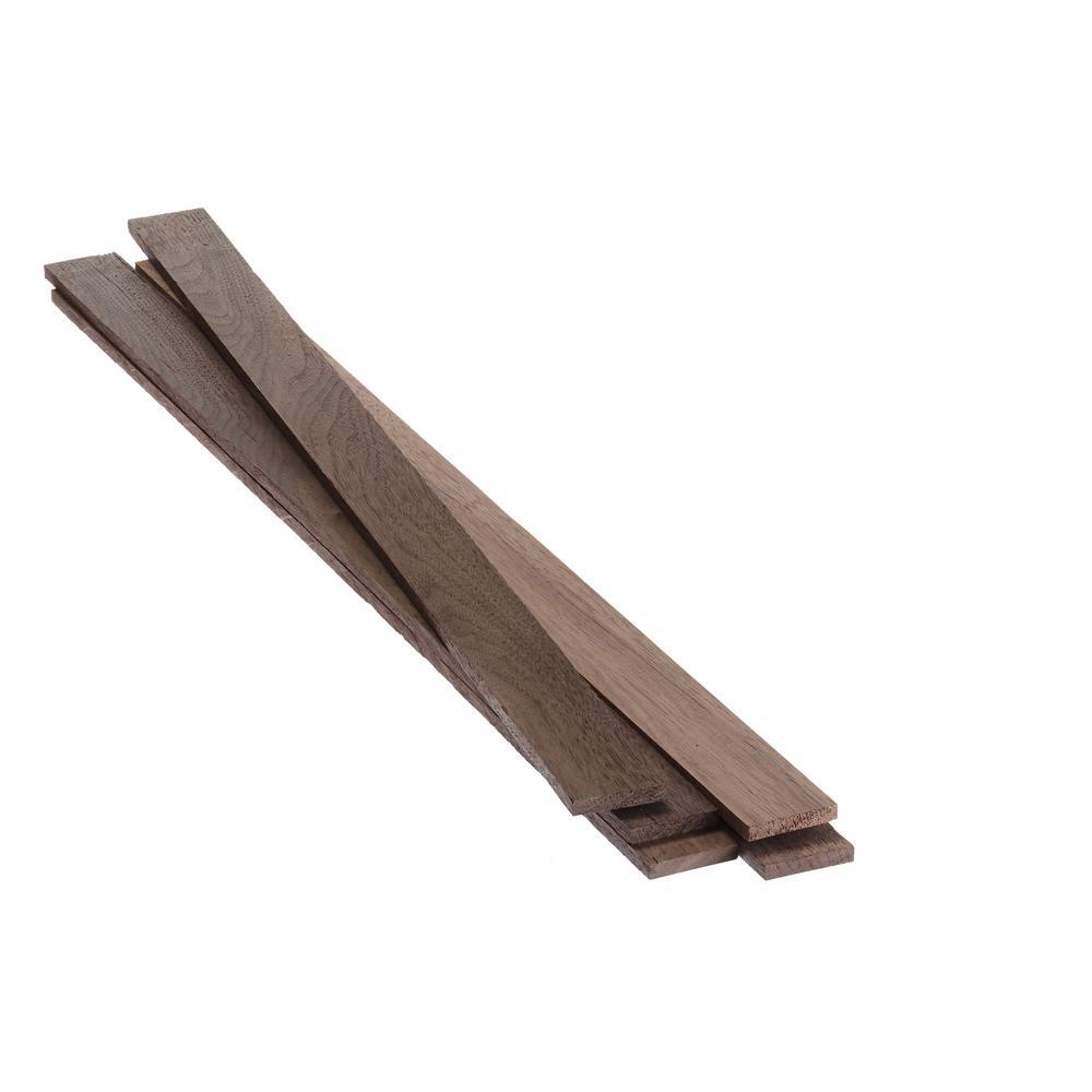 1/4 in. x 1-1/2 in. x 2 ft. Select Walnut KD S4S Board (5-Pack)