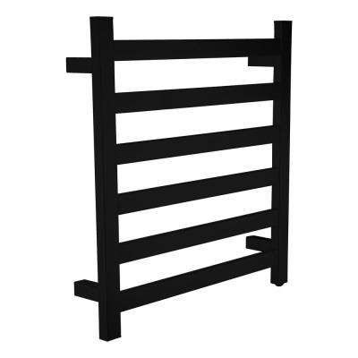 Note 6-Bar Stainless Steel Wall Mounted Towel Warmer in Matte Black