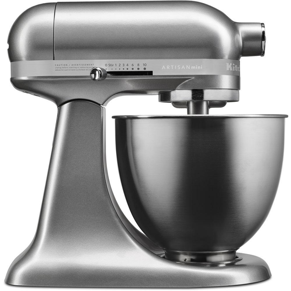 Artisan Mini 3.5 Qt. 10-Speed Tilt-Head Contour Silver Stand Mixer