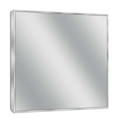 30 in. W x 36 in. H Spectrum Metal Framed Wall Mirror in Brush Nickel