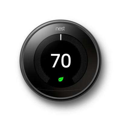 3rd Generation 24-Day Mirror Black Smart Learning Wi-Fi Programmable Thermostat