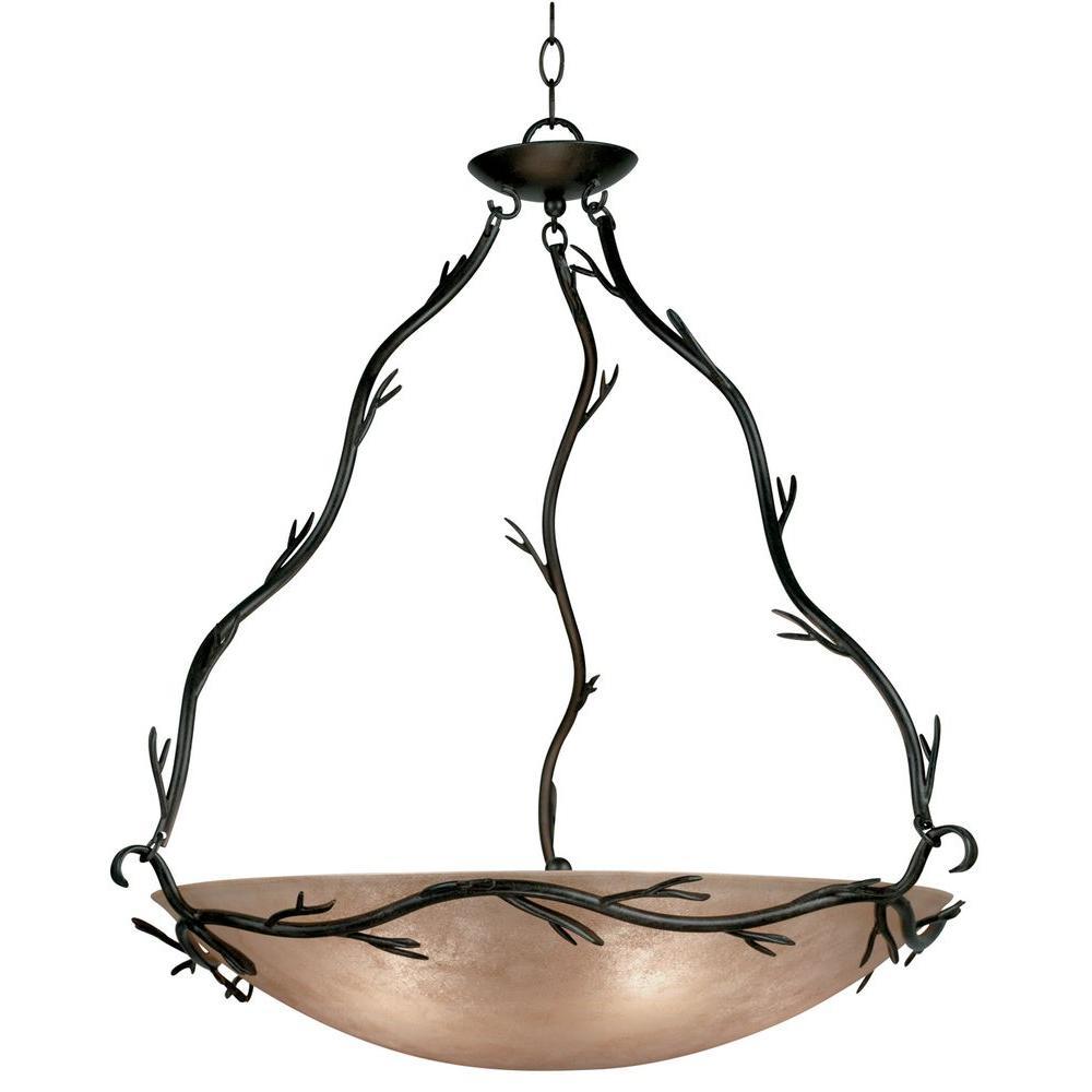 Twigs 5-Light Bronze Pendant