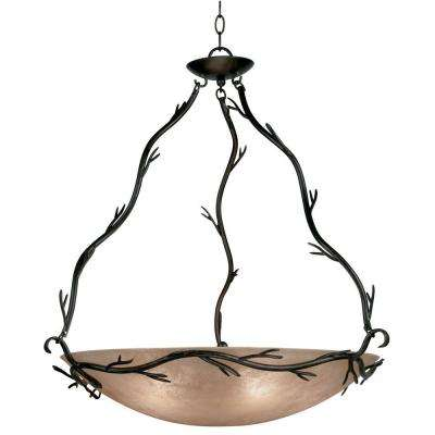 Twigs 5-Light Bronze Pendant