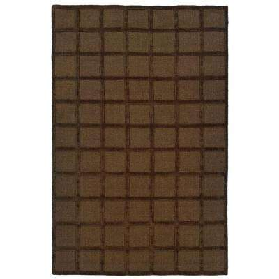 Galaxy Brown 3 ft. x 5 ft. Area Rug