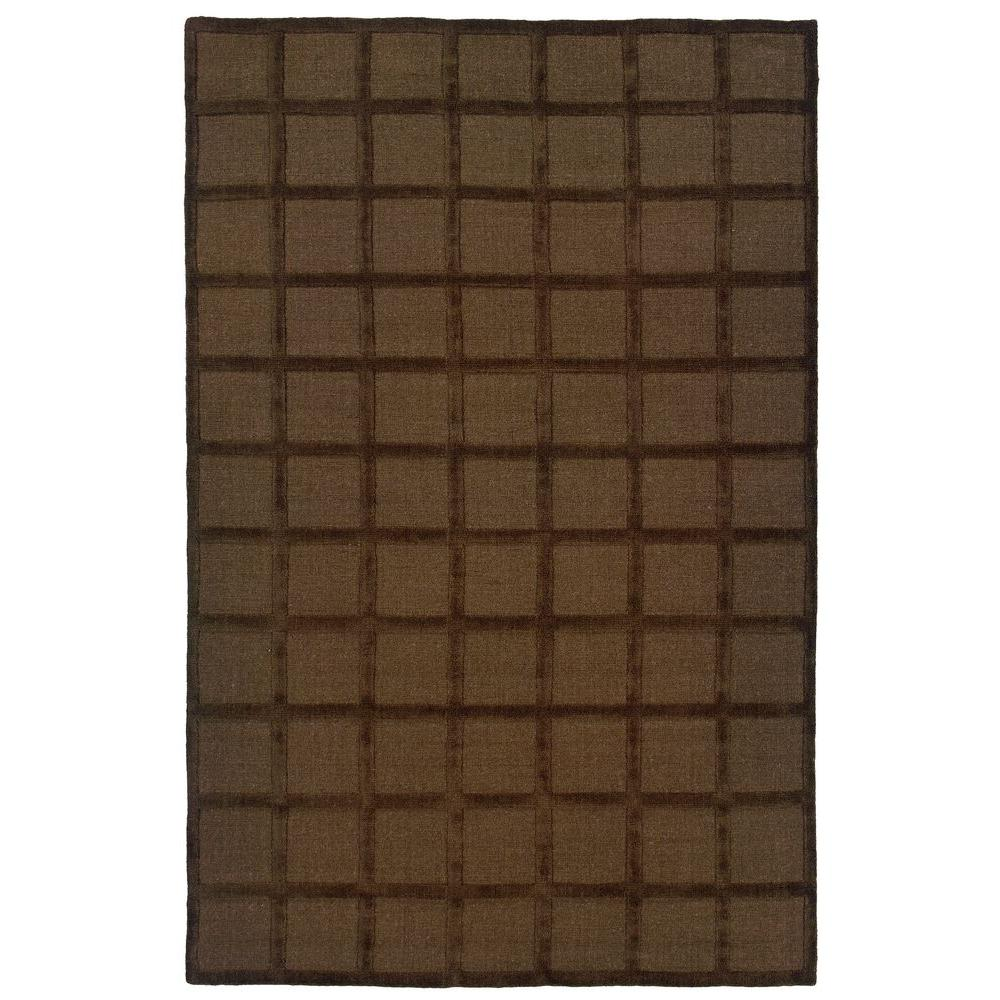 Rizzy Home Galaxy Brown 5 in. x 8 Area Rug