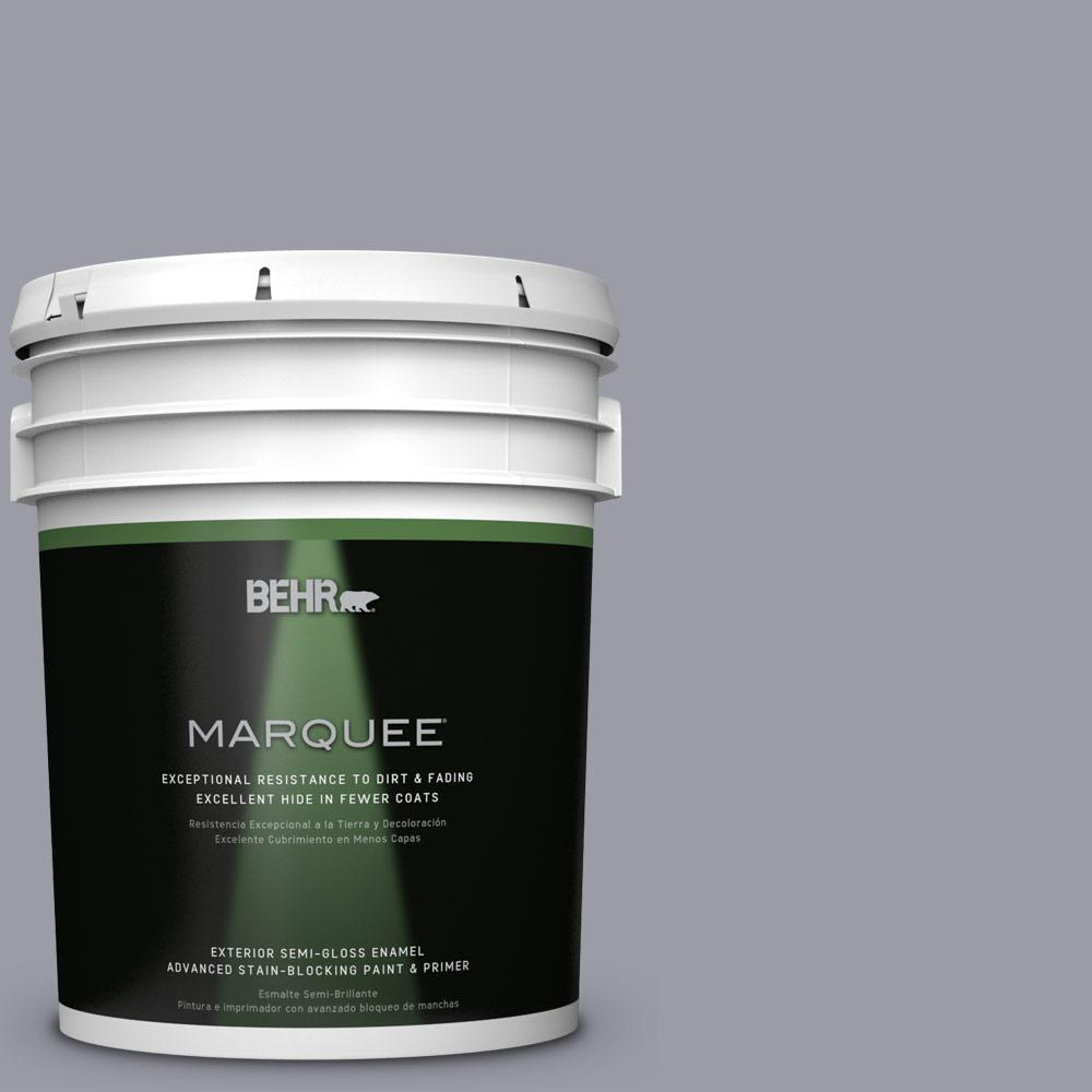 BEHR MARQUEE 5-gal. #BNC-09 Heather Gray Semi-Gloss Enamel Exterior Paint