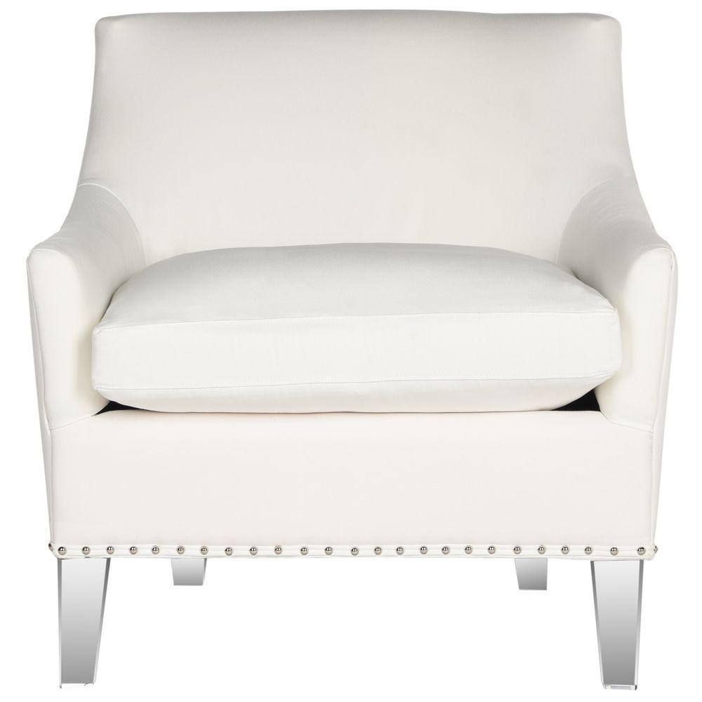 Safavieh Hollywood Glam White/Clear Cotton Club Arm Chair
