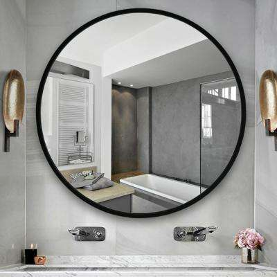 NeuType 24 inches Large Modern and Contemporary Aluminum Alloy Metal Framed Round Bathroom/Vanity/Wall Mounting Mirror