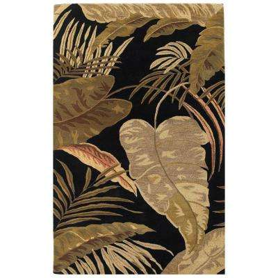 Landscape Palm Midnight 3 ft. 3 in. x 5 ft. 3 in. Area Rug