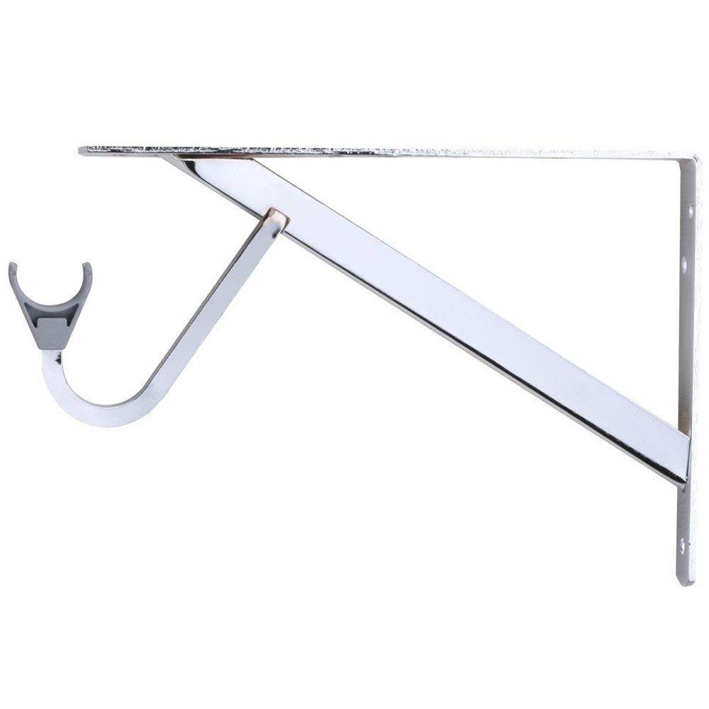 Closet Pro 11-1/4 in. Heavy-Duty Chrome Shelf and Rod Bracket