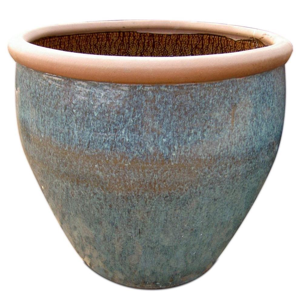 25 In Rustic Ceramic Planter Rpl The Home Depot