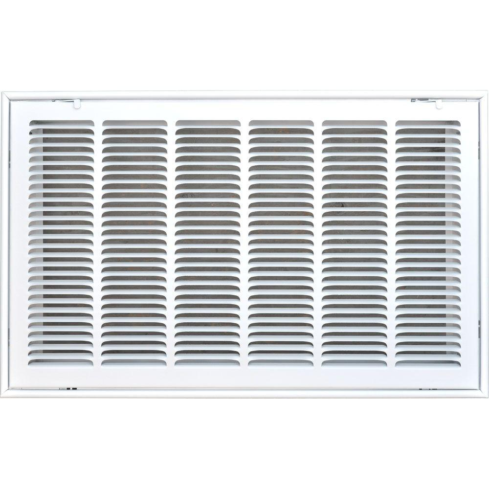 24 in. x 14 in. Return Air Vent Filter Grille, White
