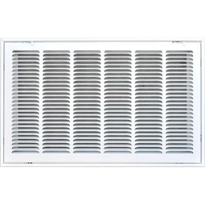 TruAire 12 in  x 24 in  White Return Air Filter Grille-H190