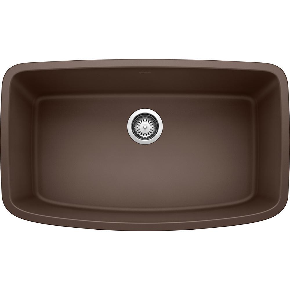 Outstanding Blanco Valea Undermount Granite Composite 32 In Single Bowl Kitchen Sink In Cafe Brown Spiritservingveterans Wood Chair Design Ideas Spiritservingveteransorg