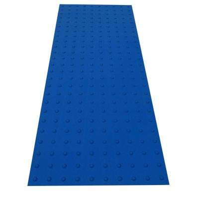 SSTD PowerBond 24 in. x 5 ft. Blue ADA Warning Mat (Peel and Stick)