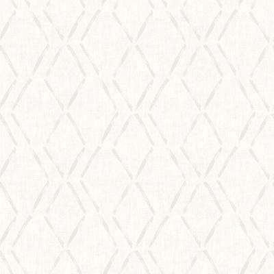 Tapa Cream Trellis Paper Strippable Roll (Covers 56.4 sq. ft.)