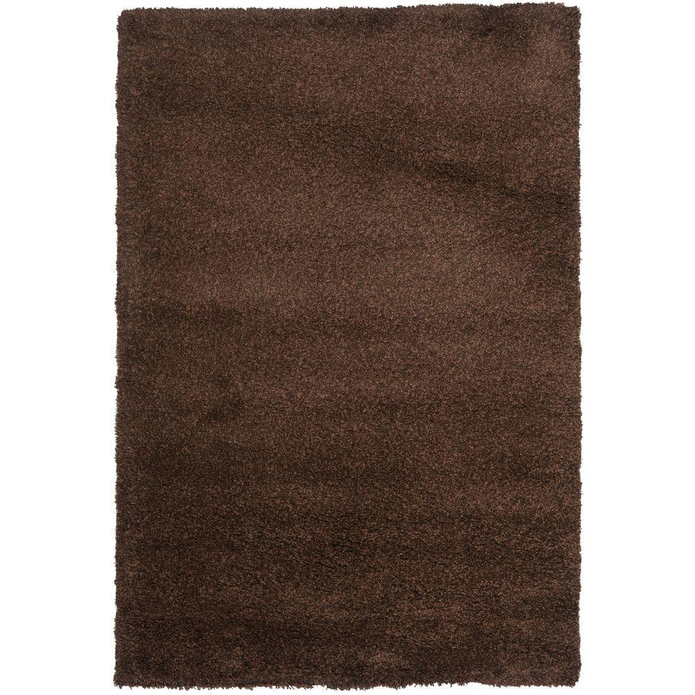 California Shag Brown 3 ft. x 5 ft. Area Rug
