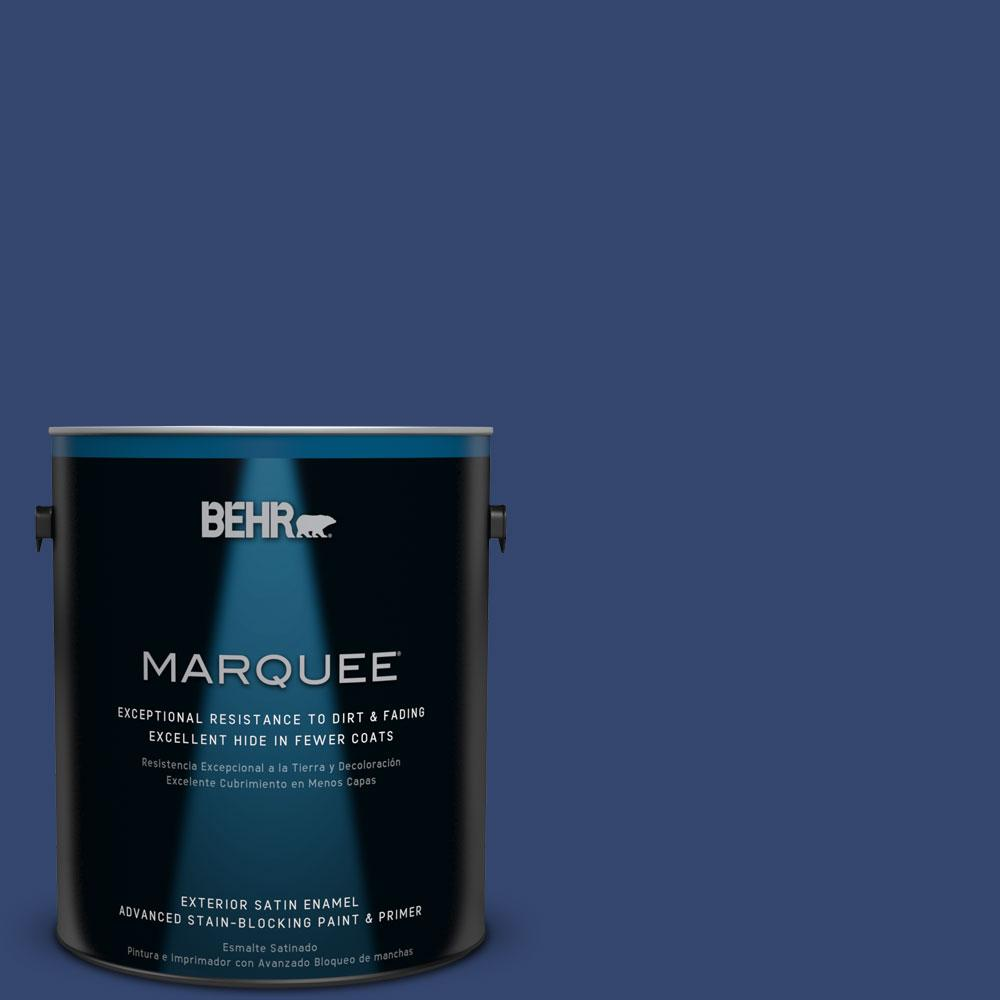 BEHR MARQUEE 1-gal. #S-H-610 Mountain Blueberry Satin Enamel Exterior Paint