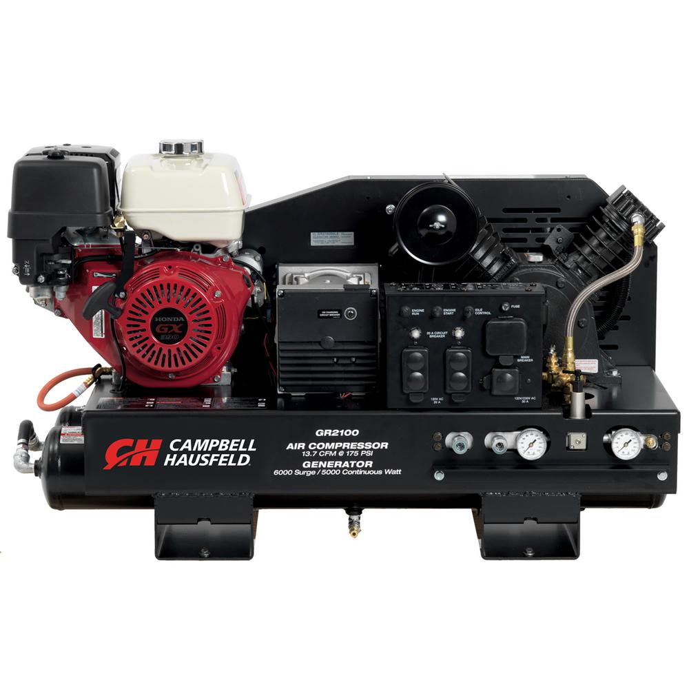 10 Gal. Stationary Gas Honda GX390 Engine/ 5000-Watt Generator (GR2100) Air