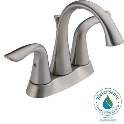 Lahara 4 in. Centerset 2-Handle Bathroom Faucet in Stainless