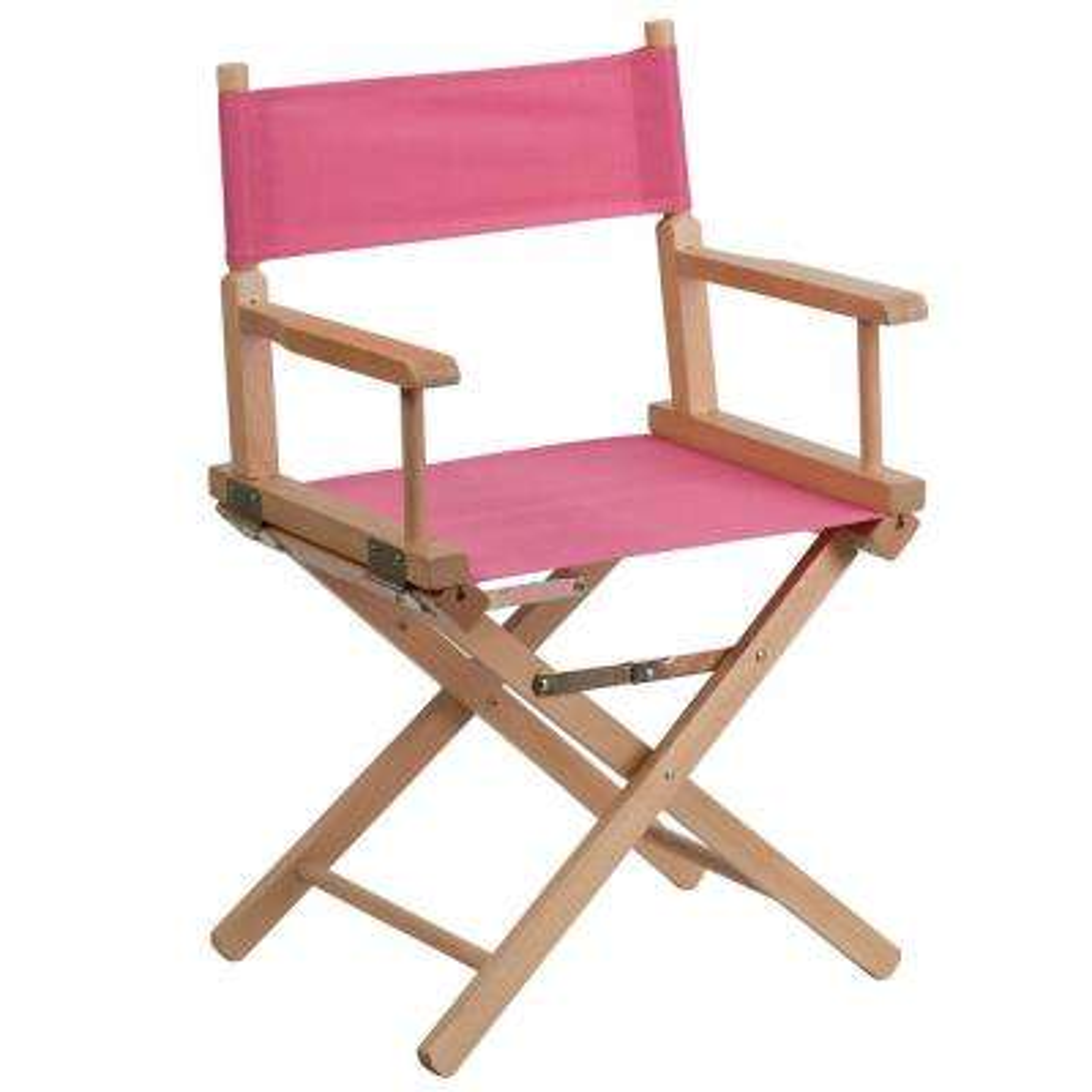 Pink Standard Height Directors Chair