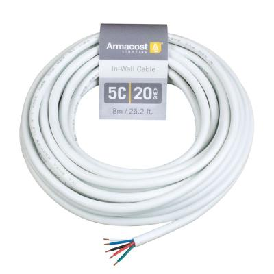 24 ft. 20 AWG/5C in Wall Cable