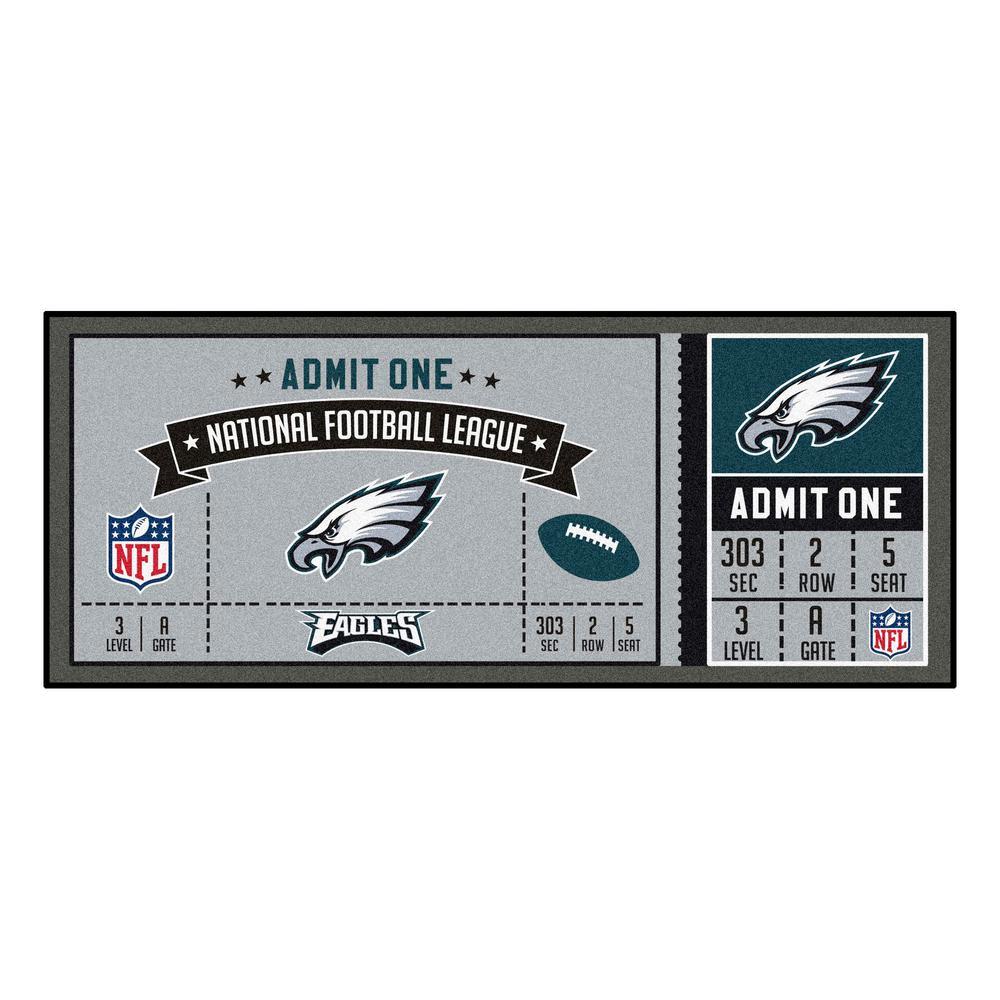 NFL - Philadelphia Eagles 30 in. x 72 in. Indoor Ticket Runner Rug