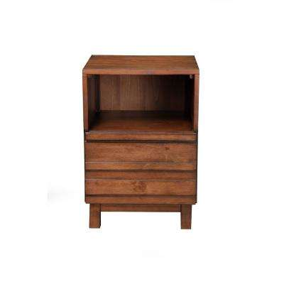 Alamosa 1-Drawer Chestnut Nightstand