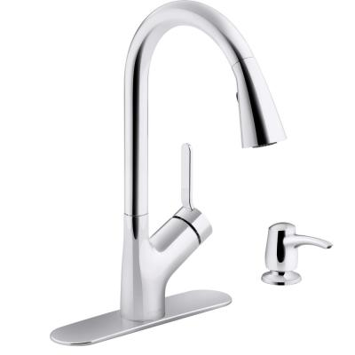 Setra Single-Handle Pull-Down Sprayer Kitchen Faucet in Polished Chrome