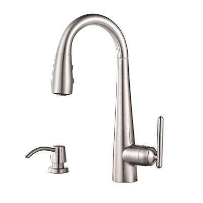 Lita Single-Handle Bar Faucet with Soap Dispenser in Stainless Steel