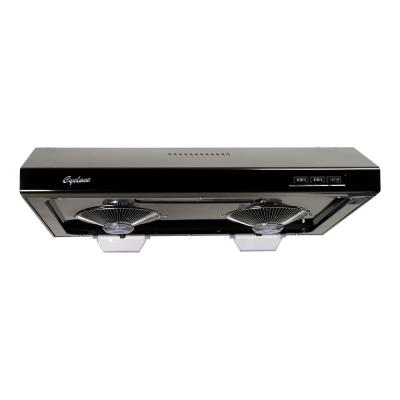 680 CFM Round/Rectangular Duct Opening, 30 in. Under Cabinet Range Hood, Filterless Technology, Easy Clean, Black