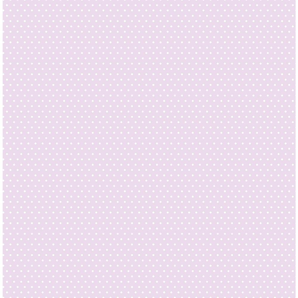 Kids Lilac Polka Dot Wallpaper