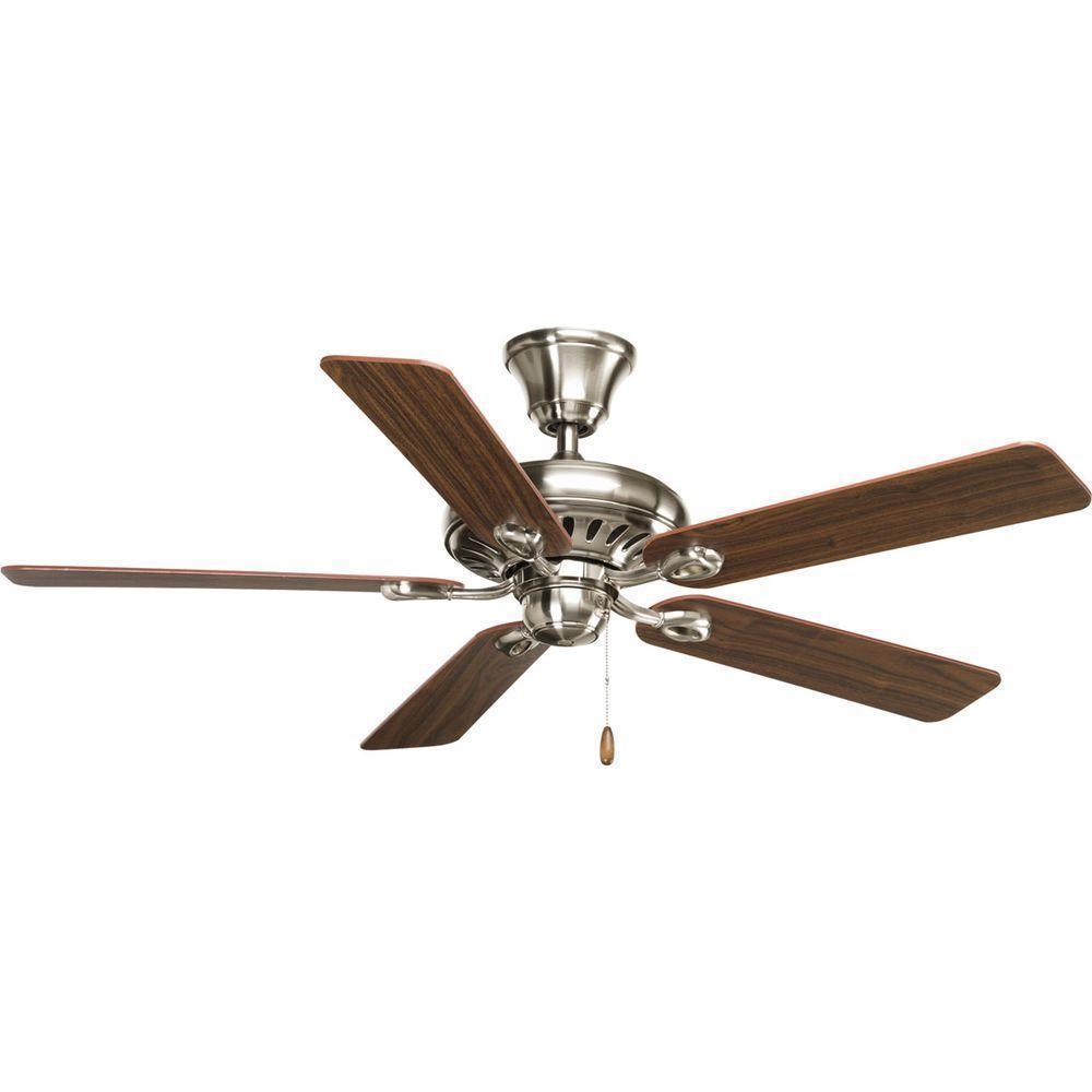 Brushed Nickel Indoor Led Ceiling Fan With Remote Control 20314 The Home Depot