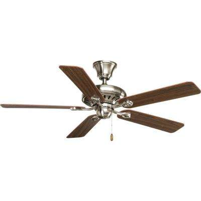 Signature Collection 52 in. Indoor Brushed Nickel Ceiling Fan