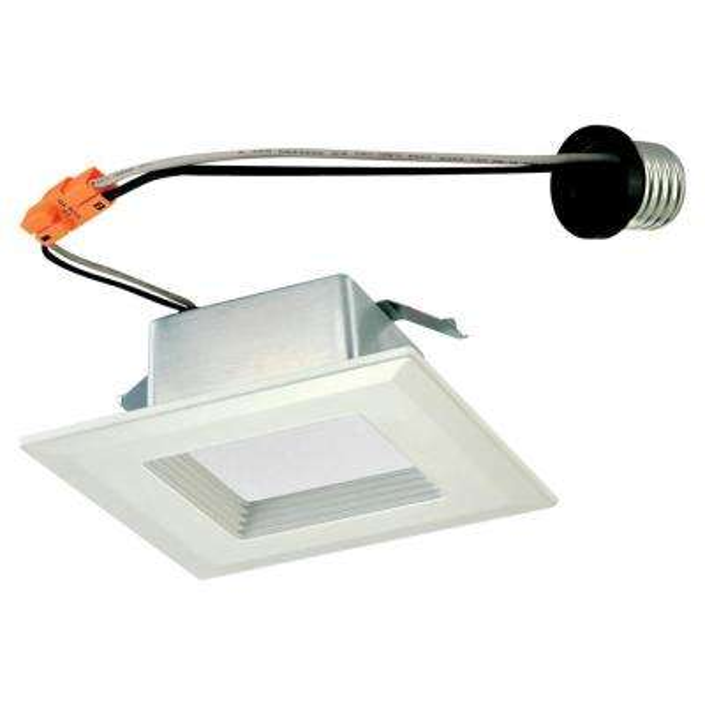4 in. Square White Integrated LED Recessed Trim