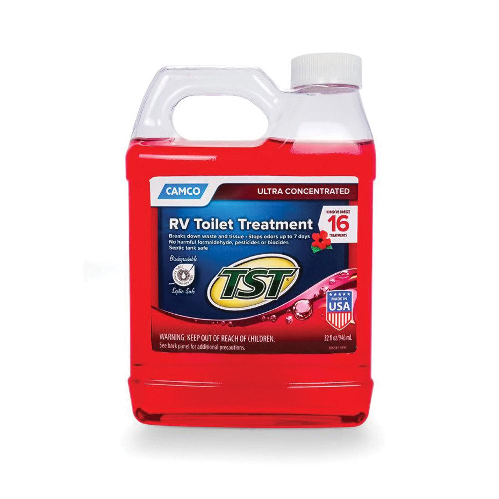 Camco Tst Ultra Concentrated Rv Toilet Treatment Hibiscus Breeze Scent 32 Oz Bottle 41602 The Home Depot