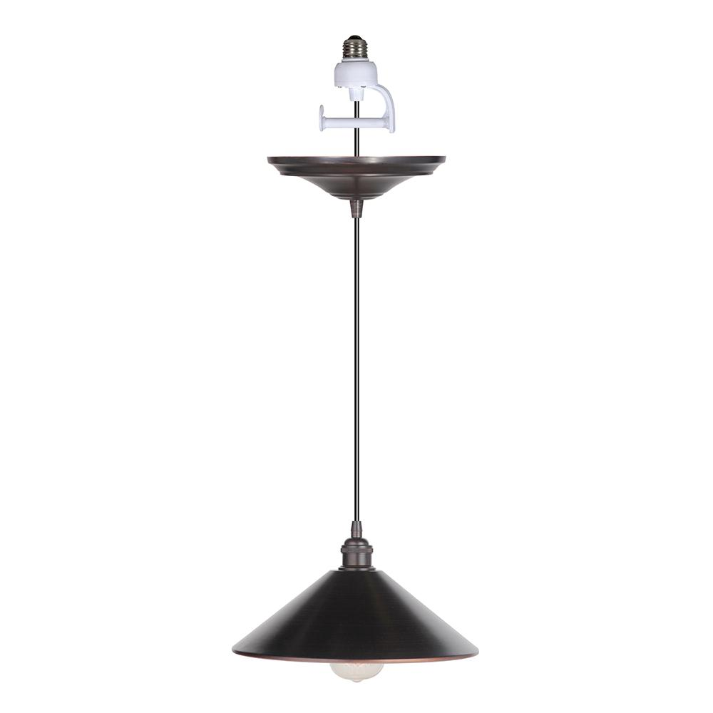Worth Home Products Instant Pendant 1 Light Brushed Bronze