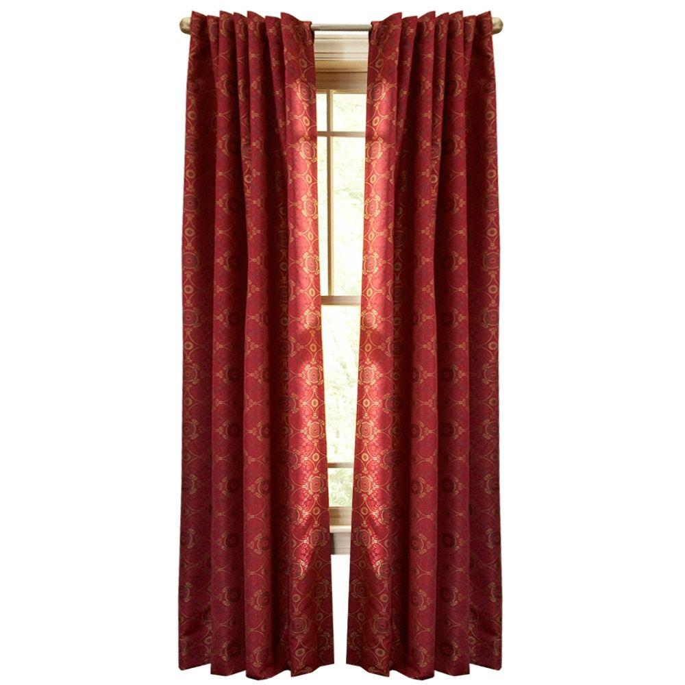 Red gingham curtains - Pageant Back Tab Curtain