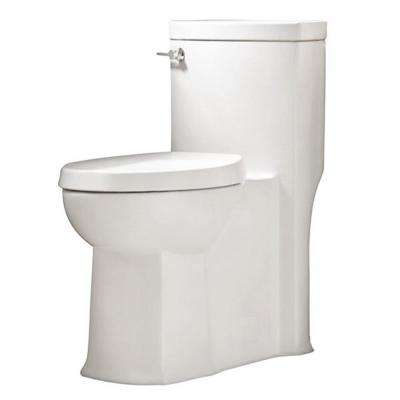 Boulevard 1-piece 1.28/1.6 GPF Single Flush Elongated Toilet in White