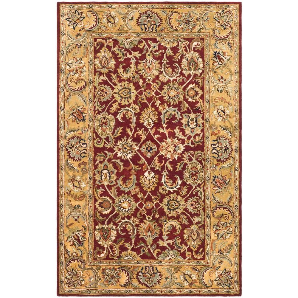 Safavieh Classic Red/Gold 4 ft. x 6 ft. Area Rug
