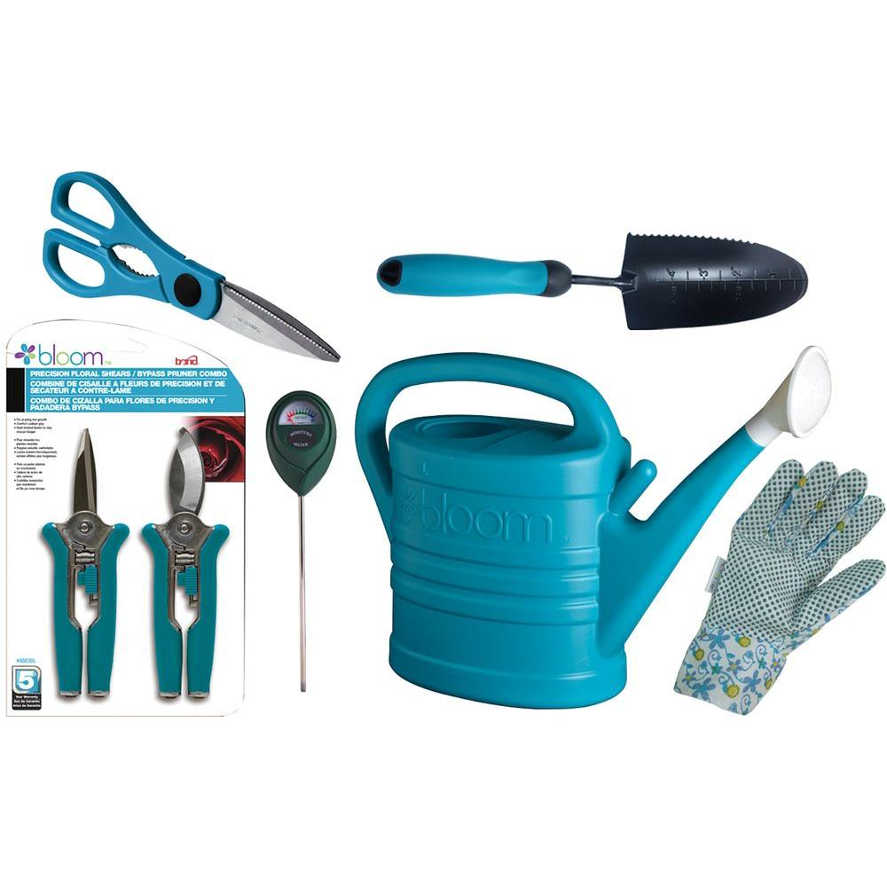 Bond manufacturing bloom indoor houseplant kit in blue 6 for Garden tools manufacturers
