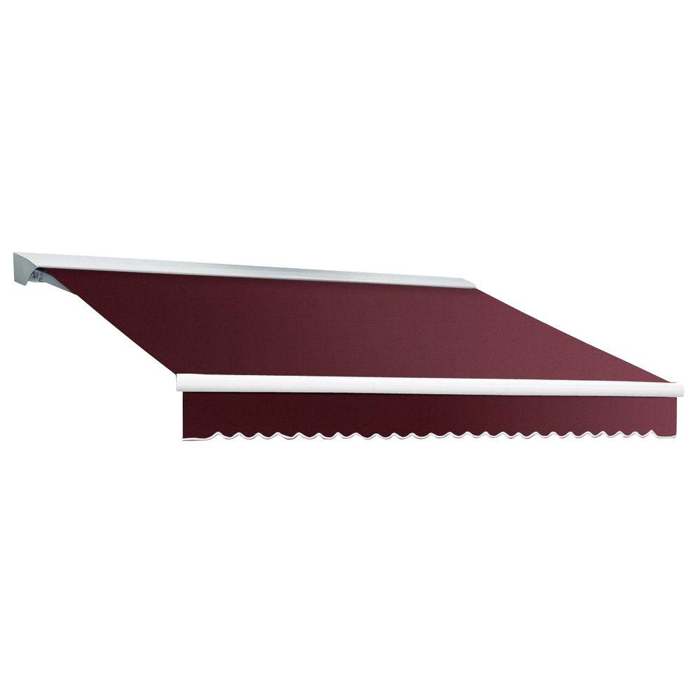 Beauty-Mark 18 ft. DESTIN EX Model Left Motor Retractable with Hood Awning (120 in. Projection) in Burgundy