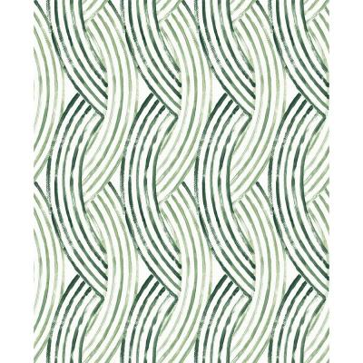 Zamora Green Brushstrokes Strippable Wallpaper (Covers about 56.4 sq. ft.)