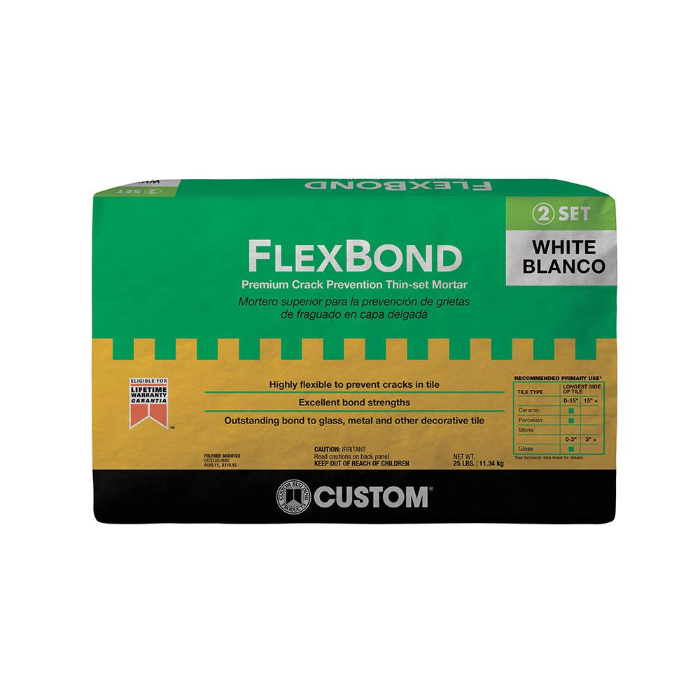 Custom Building Products FlexBond White 25 lb. Crack Prevention Mortar