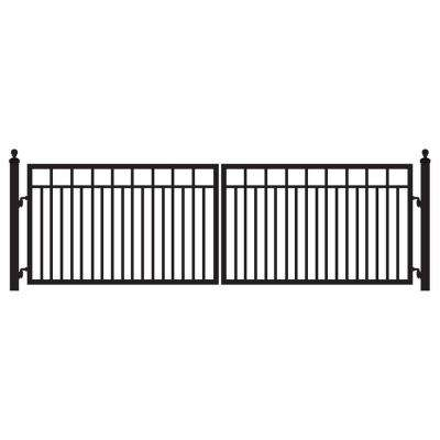 Sanibel 14 ft. W x 4 ft. H 8 in. Powder Coated Steel Dual Driveway Fence Gate