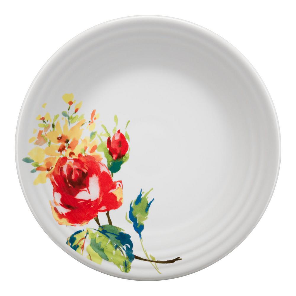Fiesta 9 in. White Floral Bouquet Luncheon Plate 46541600U
